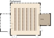 Kombination Saal Parlament